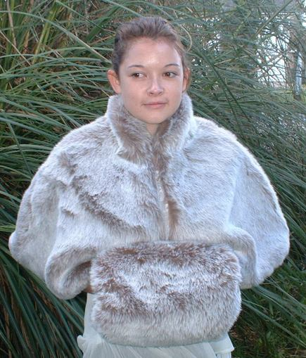 Koala Faux Fur Cape