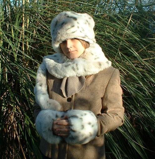 Snow Lynx Faux Fur Cuffs