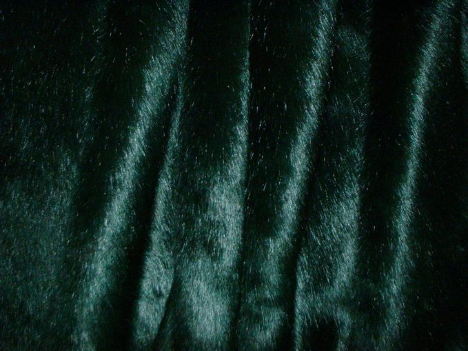 Hunter Green Mink Faux Fur per meter