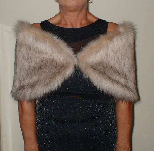 Fawn Musquash Faux Fur Wrap