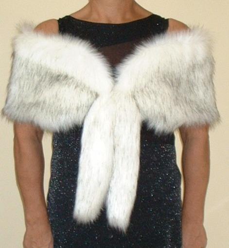Alaska Faux Fur Vintage Foxy Wrap