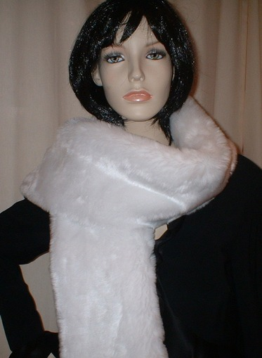 Snow White Faux Fur Scarf