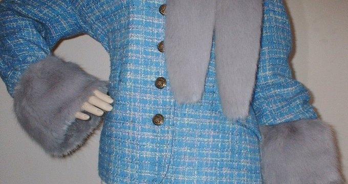 Silver Mink Faux Fur Cuffs