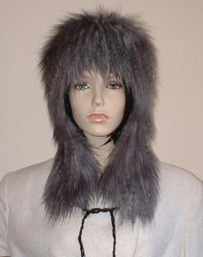 Siberian Wolf Faux Fur Trapper Hat