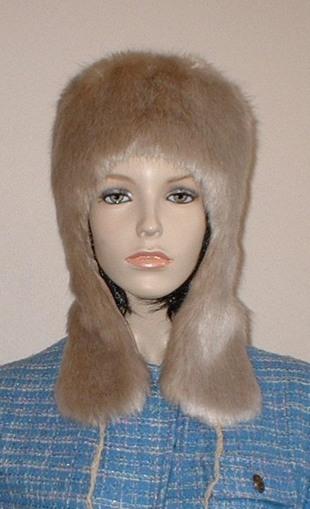Honey Blonde Faux Fur Trapper Hat