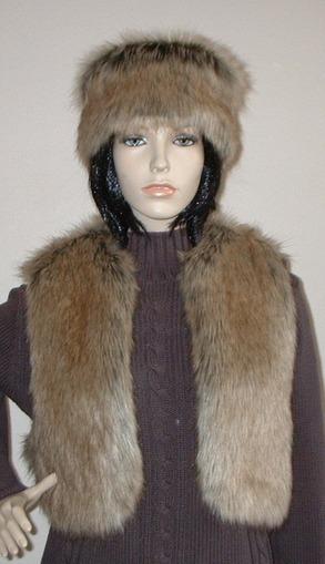 Husky Faux Fur Bolero/Waistcoat