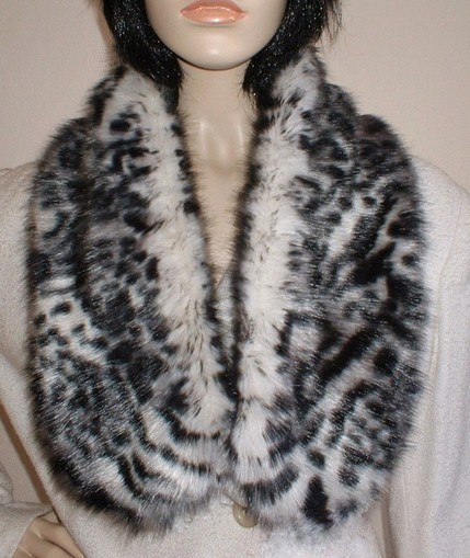 Panther Faux Fur Neck Scarf