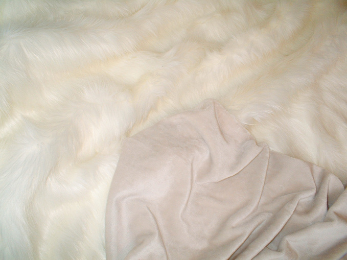 Cream Cuddle Soft Velboa per meter