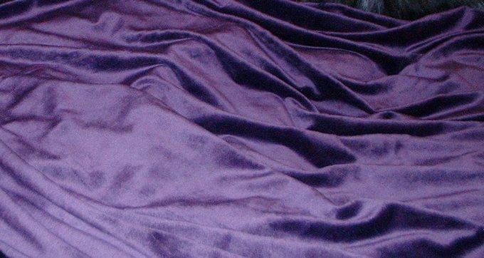 Purple Cuddle Soft Velboa Swatch