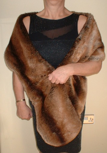 Madagascar Faux Fur Slim Stole