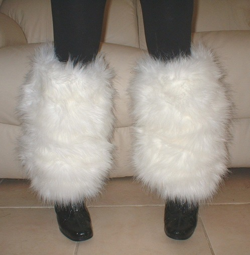 Polar Bear Faux Fur Leg Warmers