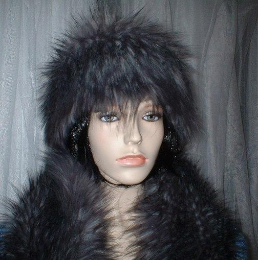 Siberian Wolf Faux Fur Headband