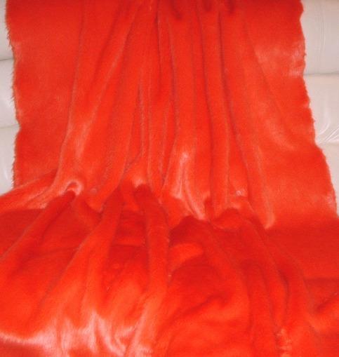 Coral Faux Fur Swatch