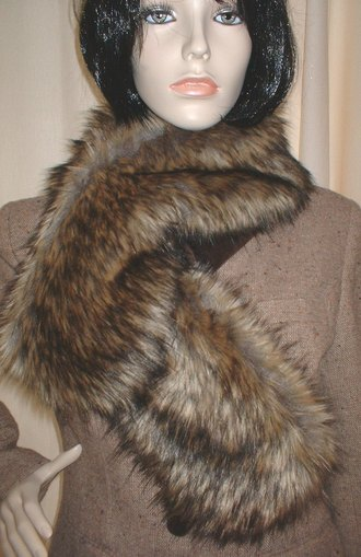 Simba Faux Fur Pull Through Scarf