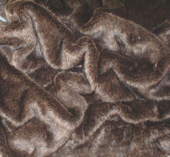 Brown Bear Faux Fur per meter