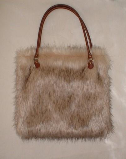 Fawn Musquash Faux Fur Bag
