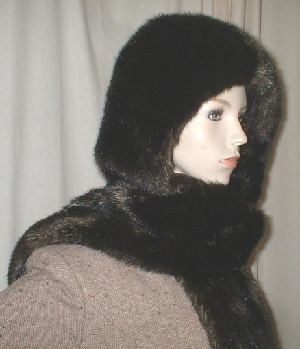 Mahogany Mink Faux Fur Hoodie