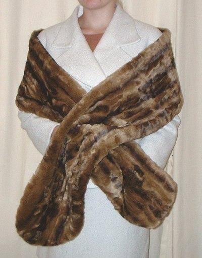 Vintage Gold Astra Faux Fur Slim Stole