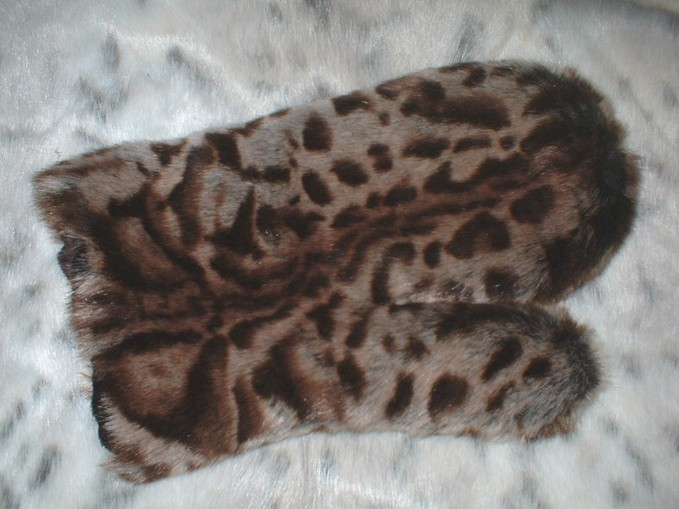 New Ocelot Faux Fur Massage Mitt