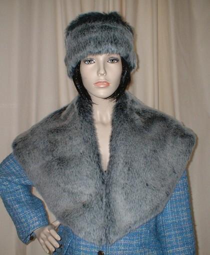 Arctic Wolf Faux Fur Shawl Collar