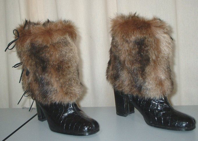 Russian Sable Faux Fur Boot wraps