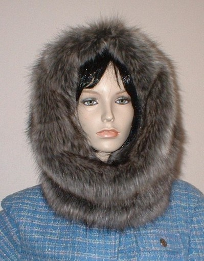 Timber Wolf Faux Fur Cowl/Neck Warmer