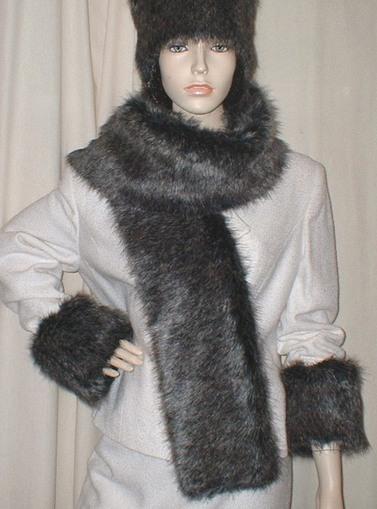 Wolfhound Faux Fur Scarf