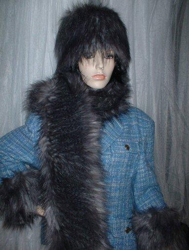 Siberian Wolf Faux Fur Cuffs