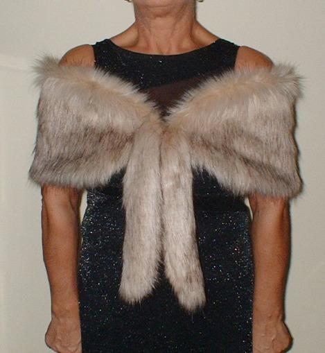 Fawn Musquash Faux Fur Vintage Foxy Wrap
