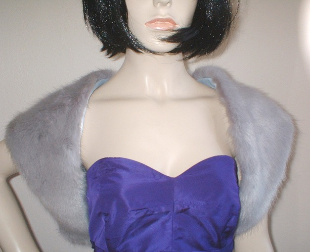 Silver Mink Faux Fur Shrug