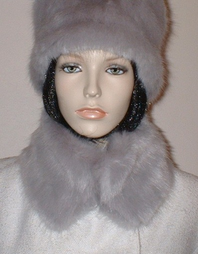 Silver Mink Faux Fur Short Collar