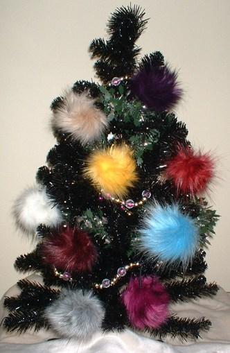 Xmas Faux Fur Christmas Baubles