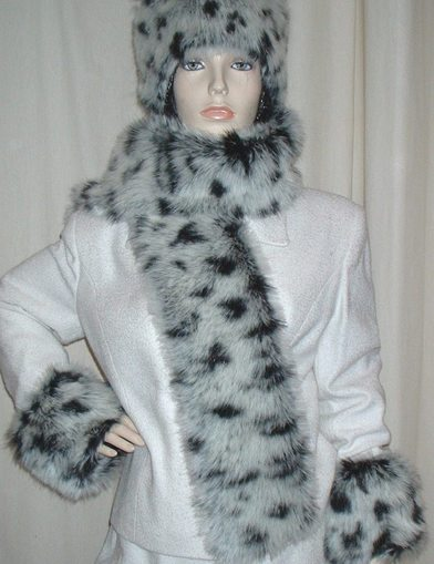 Winter Leopard Faux Fur Scarf