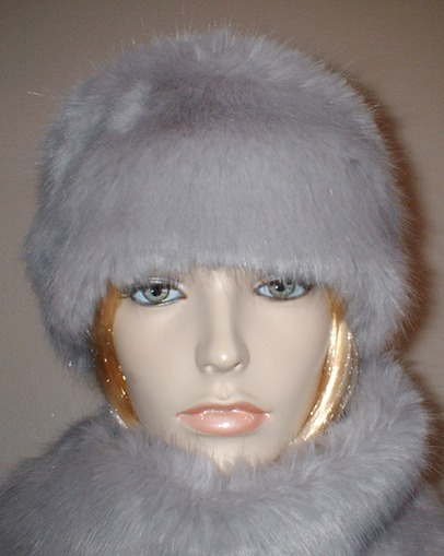 Silver Mink Faux Fur Headband