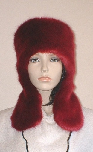 Ruby Red Faux Fur Trapper Hat