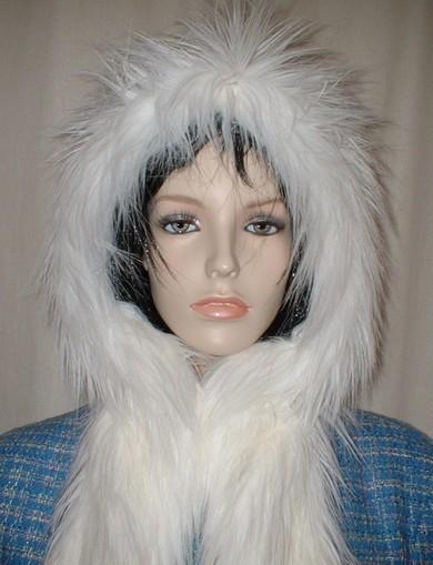 Polar Bear Faux Fur Hoodie
