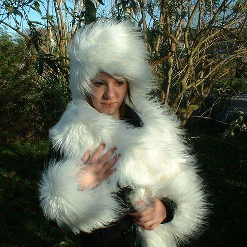 Polar Bear Faux Fur Scarf