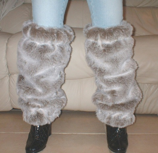 Koala Faux Fur Leg Warmers