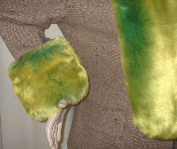 Pistachio Flash Faux Fur Cuffs (Pair)