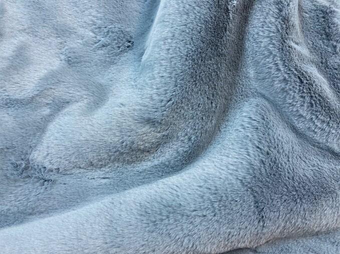Blue Softee Faux Fur Throw