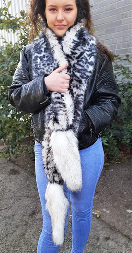 Panther and Alaska Faux Fur Boa Scarf