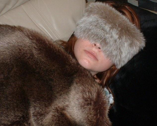 Koala Faux Fur Eye Mask
