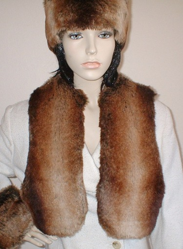 Madagascar Faux Fur Bolero/Waiscoat