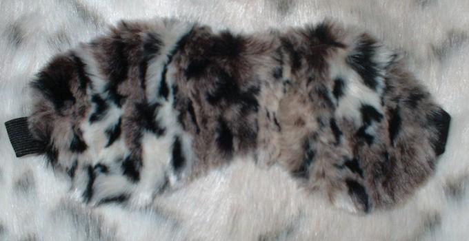 Wild Cat Faux Fur Eye Mask