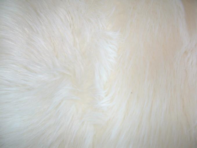 Polar Bear Faux Fur Fabric per meter
