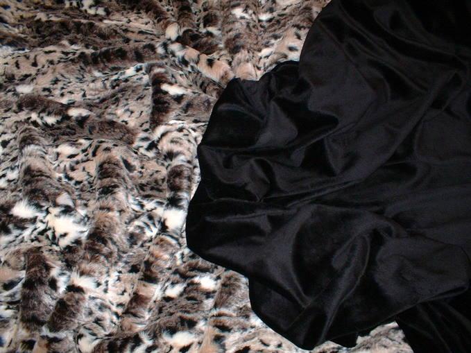 Black Cuddle Soft Velboa per meter