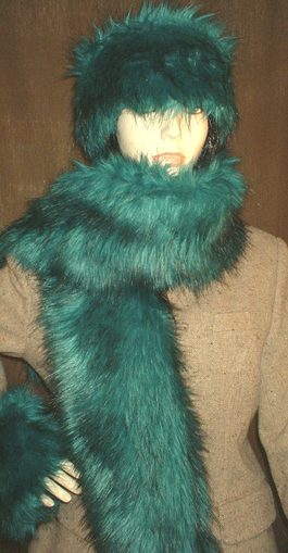 Jade Faux Fur Scarf