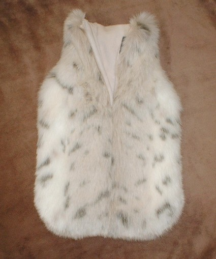 Snow Lynx Faux Fur Hot Water Bottle Cover