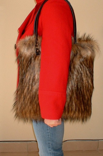Simba Faux Fur Bag