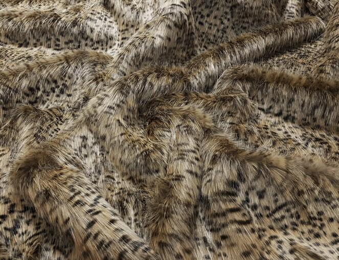 Cheetah Faux Fur Fabric Per Meter